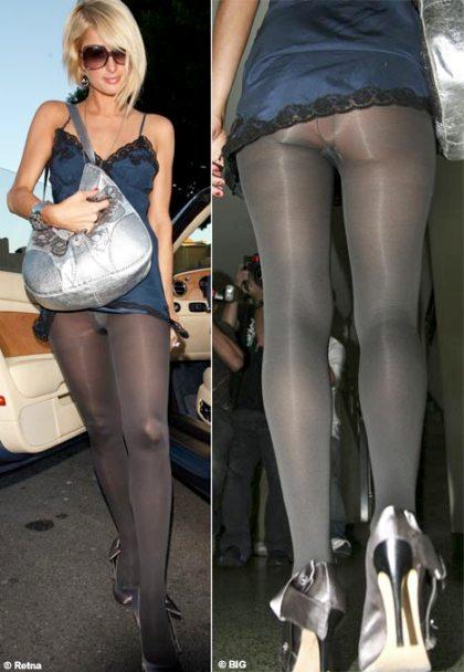 Upskirt black tights laddered ass leg 5