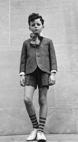 Boy with tall socks