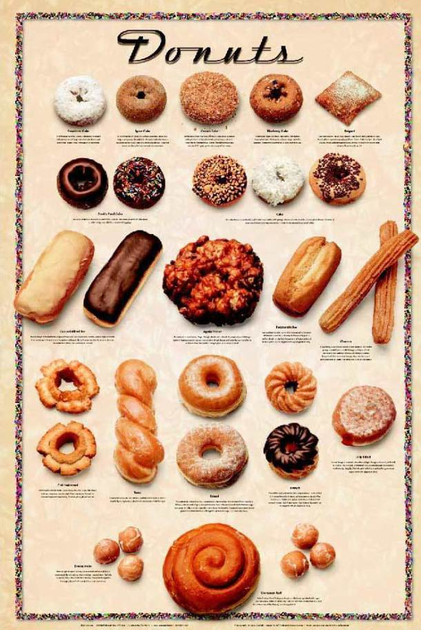 yummy yummy doughnuts. I'll take one of each
