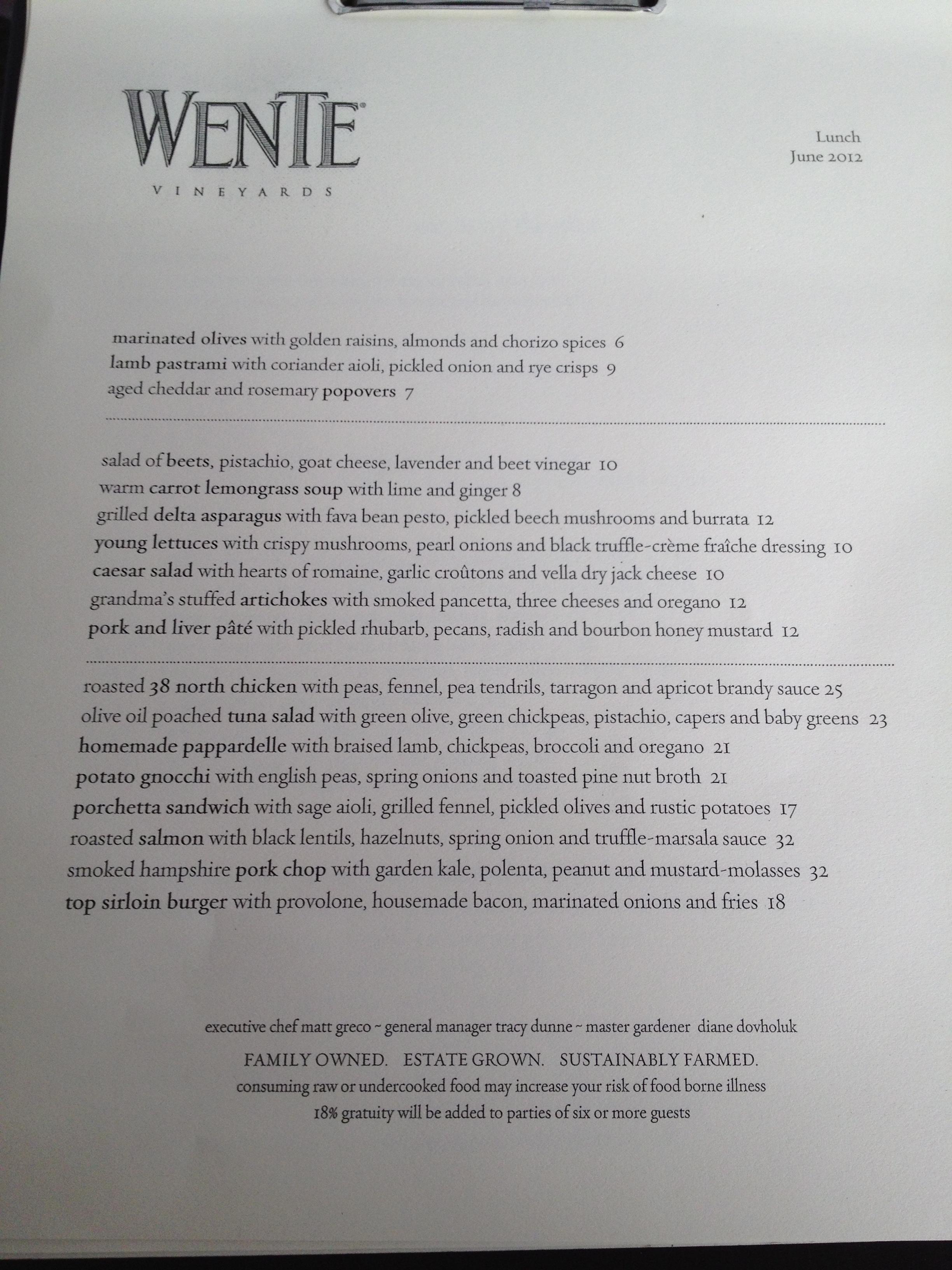 Olive Garden Desserts Menu
